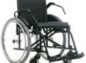 Cadeira de rodas em aço para obeso Poty preta 50cm - Baxmann Jaguaribe