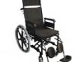 Cadeira de rodas em aço reclinável KR Plus