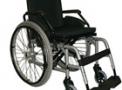 Cadeira de rodas em alumínio 44cm Prata Metálico(pedal rebatível) Ecomix - Ortomix