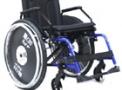 Cadeira de rodas em alumínio Sol Plus 40cm azul - CDS