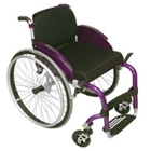 Cadeira de rodas esportiva em alumínio M3 violeta 40cm - Ortobras