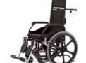 Cadeira de Rodas Fit Reclinável vinho 44cm - Baxmann