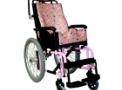 Cadeira de Rodas infantil em aço Confort Plus 35cm Rosa – Ortomix