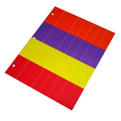 Cartela de tiras 4 cores para marcação e identificação de instrumentais cirúrgicos  - Batrik