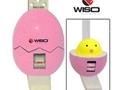 Estadiômetro compacto infantil 200cm Eggshape rosa - Wiso