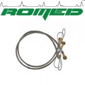 Chicote serpentina para clindro de aço flex 1,20 mts oxigênio