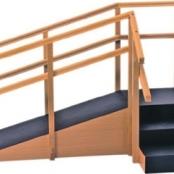 Escada de Canto com Rampa E Corrimãos Duplos 1015- Carci  - Carci