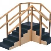 Escada de Canto sem Rampa com Corrimãos Duplos 1010- Carci  - Carci
