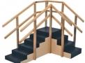 imagem de Escada de Canto sem Rampa com Corrimãos Duplos 1010- Carci  - Carci