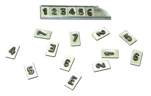 Alfabetos e números para RAIO-X