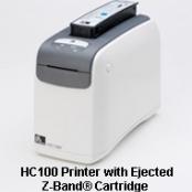 Impressora de pulseira hospitalar HC100 da Zebra