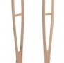 Muleta axilar de madeira (Cód. 524)