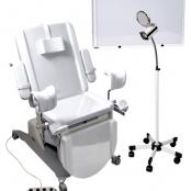 CONJUNTO GO4 MedicinaShop: Mesa Go4 Branco + Foco FC300 + Negatoscopio 2 Corpos