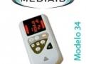 Oximetro de Pulso Portátil com alarme Audiovisual Modelo 34 Mediaid Inc.