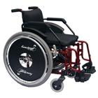 Cadeira de rodas funcional adulto 46cm Vinho - Baxmann