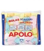 Algodão Bola Colorido 50 gramas Apolo