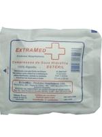 Compressa de Gaze 13 Fios 100 pacotes com 5 unidades Estéril Extramed
