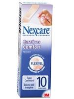 Curativo Comfort com 10 unidades Tradicional Nexcare 3M