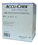 Lanceta Accu-Chek Safe-T-Pro Uno com 200 unidades Roche