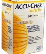 Lanceta Softclix com 200 unidades Roche