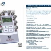 HS15 SIMULADOR DE ECG C/ 12 VARIAÇÕES PARA ELETROCARDIOGRAFO MULTICANAL