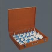 Coluna vertebral desarticulada em caixa de madeira TGD-0141-B