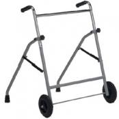 Andadores em Aço dobrável   regulável em altura com rodas