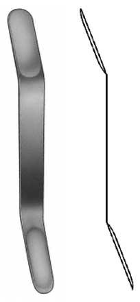Espatula Maleavel Olivercrona Curvo 18cm 18 X 22mm