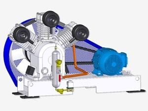 Compressor Medicinal Montado sobre Base EL-2075-B