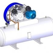 Compressor Medicinal Montado sobre Reservatório EL-2030-R