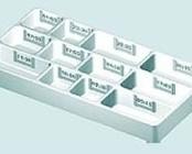 Bandeja de Distribuição de Medicamentos de 12 Cavidades para Horários