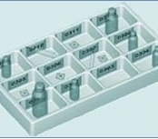 Bandeja de Distribuição de Medicamentos de 12 Cavidades