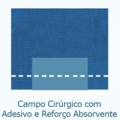 Campo Cirúrgico com Adesivo e Reforço Absorvente