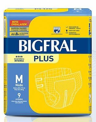Fralda Bigfral Plus Normal Média pct C/9 unidades