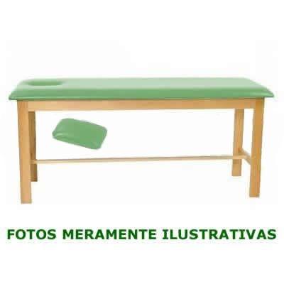 Divã Clínico Mesa de Exame Clínico com orifício para a cabeça - Madeira Marfim Selecionada ref. 2011 - KML