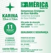 Compressa de Gaze 11 Fios - Não Estéril - 500 unid - Karina