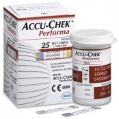 Tiras Accu-Chek Performa com 25 - Roche
