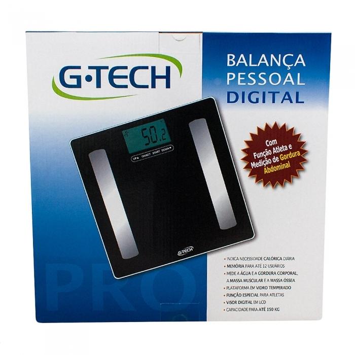 Balança Digital G-Tech Glass Pro