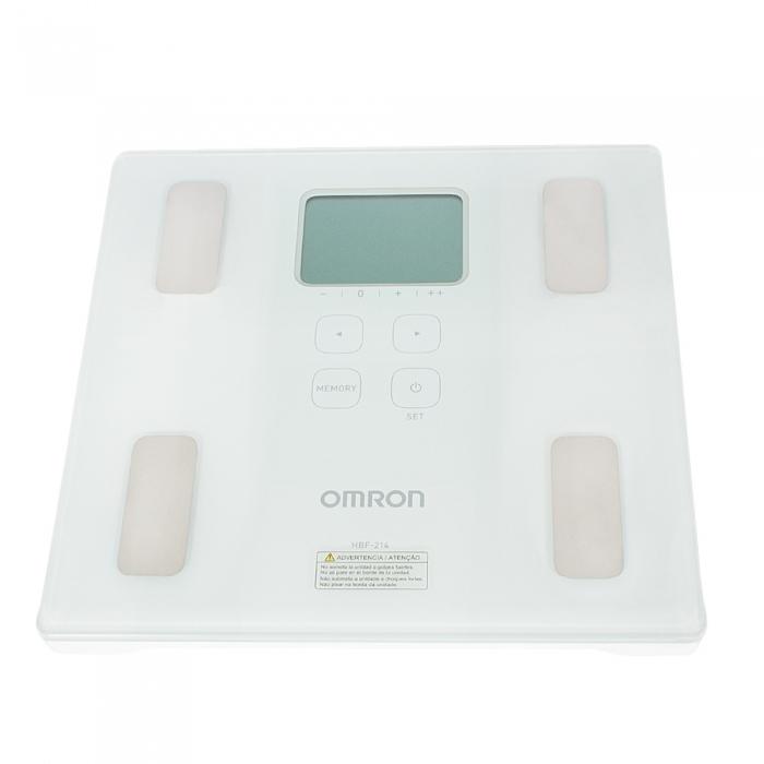 Balança Digital Omron Ref HBF 214 Branca Capacidade 150Kg