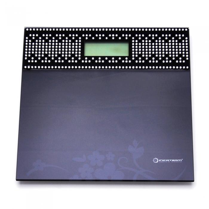 Balança Digital Incoterm Luxury Collection Preta Capacidade 180kg