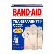 Curativos Band Aid Johnson & Johnson Transparentes com 40 Unidade Leve 40 Pague 30