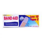 Curativos Band Aid Johnson & Johnson Transparentes com 10 Unidades Leve 10 Pague 8