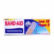Curativos Band Aid Johnson & Johnson Transparentes com 10 Unidades Leve 10 Pague 8