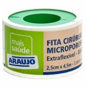 Fita Microporosa Araujo 2,5cm X 4,5 Bege