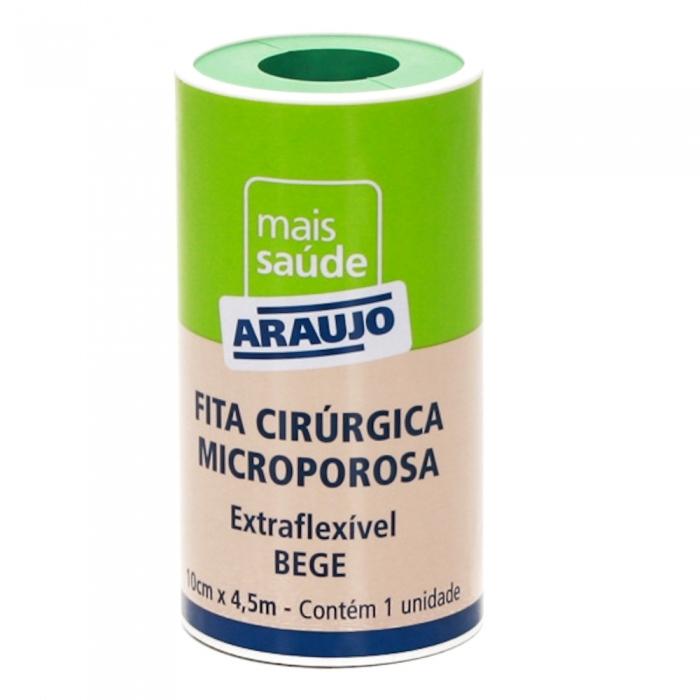 Fita Microporosa Araujo 10cm X 4,5 Bege