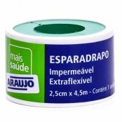 Esparadrapo Araujo Impermeável Branco com 1 Unidade de 2,5cm X 4,
