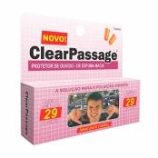 Protetor de Ouvido ClearPassage Espuma Macia com 2 Pares