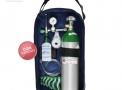 Kit Oxigênio Portátil 3 Litros Alumínio com Bolsa AZUL (COM CARGA)