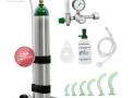 Kit Oxigênio Portátil de 5 Litros Alumínio com Carrinho (COM CARGA)