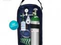 Kit Oxigênio Portátil 3 Litros Alumínio com Bolsa AZUL (SEM CARGA)